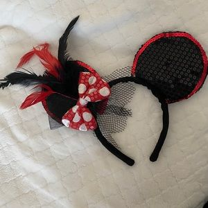 Sequined Disney Minnie Ears with Bow